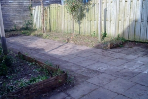 Verwaarloosde tuin